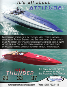 Patented Hull Design: Active Thunder