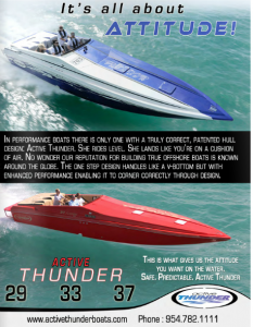 Active Thunder Featured in Powerboating in Paradise Magazine Vol 16 #2